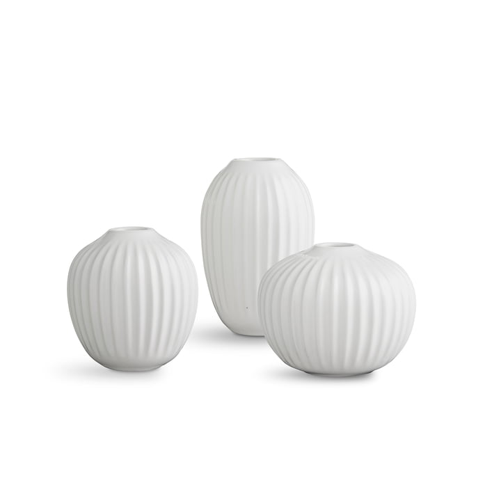 Kähler Design - Hammershøi Vase miniature, white (set of 3)