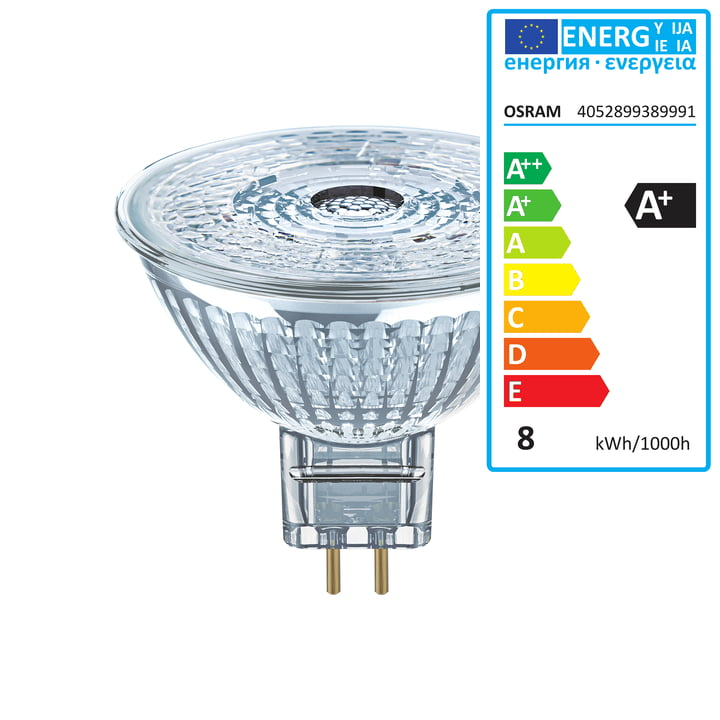 Osram - Superstar MR16 35 (36°) LED reflector lamp, GU5. 3 / 12 V