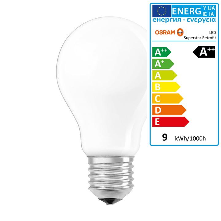 Osram - Superstar Classic A75 Filament LED lightbulb, E27 / 8,5 W, warm white2700K, 1055 lm, dimmable / matt