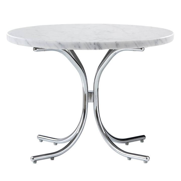 Modular Table Ø 50 x H 36 cm by Verpan in Marble White