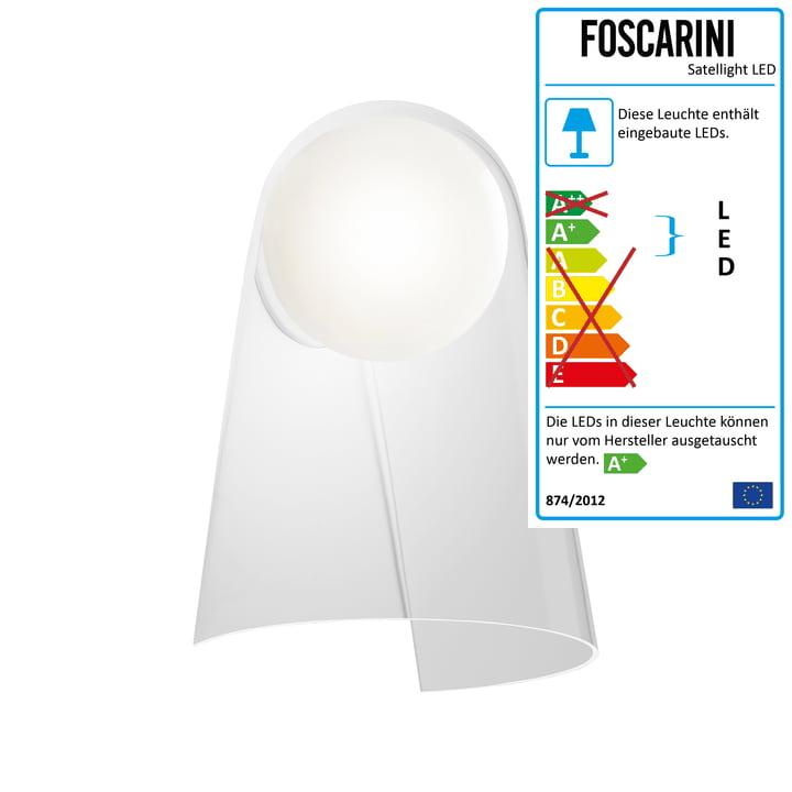 Satellight light LED by Foscarini in white / transparent