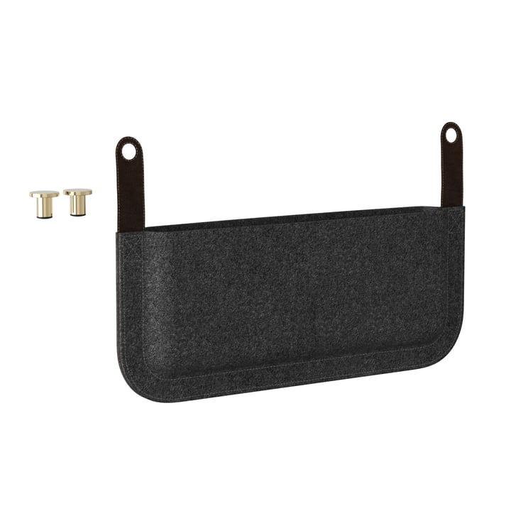Umage - Side Magazine Pouch for Lounge Around Sofa, anthracite grey
