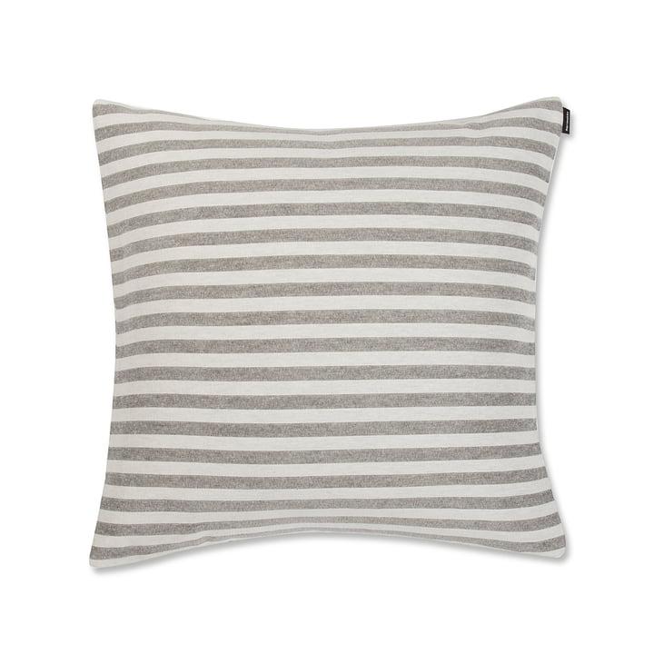 Tasaraita Cushion Cover 50 x 50 cm by Marimekko in Grey / White