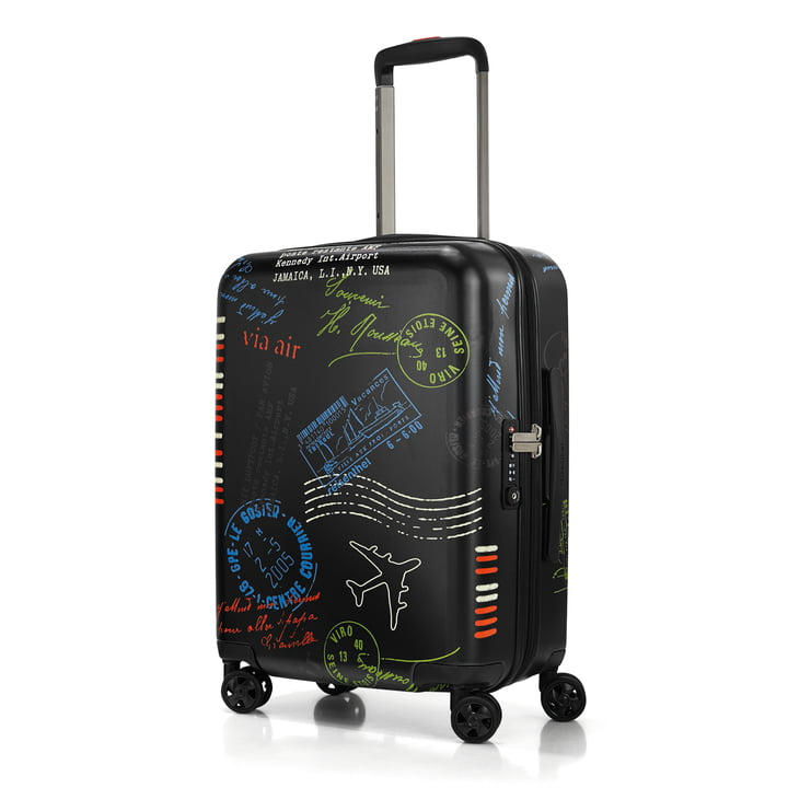reisenthel - boardcase suitcase, stamps (Special Edition)