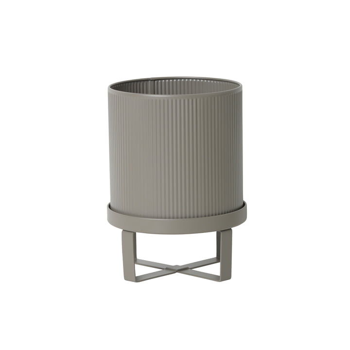 Bau Flower Pot Ø 18 x H 24 cm by ferm Living in Warm Grey