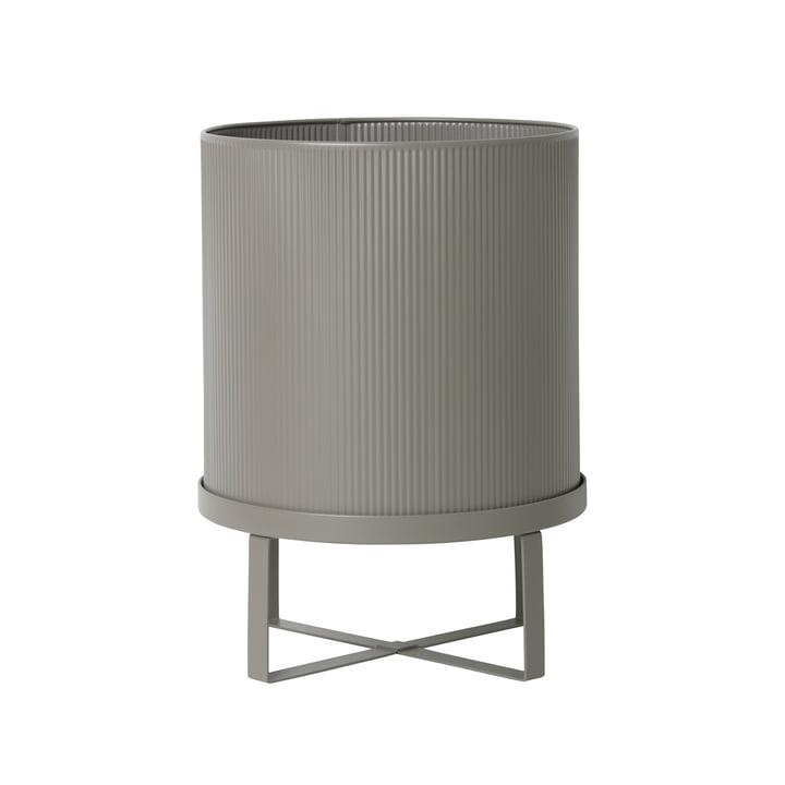 Bau Flower Pot Ø 28 x H 38 cm by ferm Living in Warm Grey