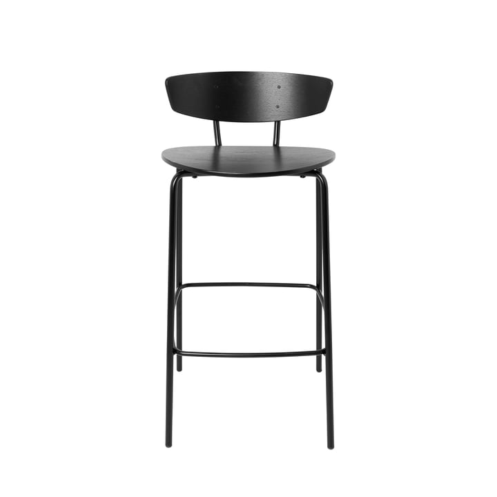 Herman Stool H 83.5 cm by ferm Living in Black