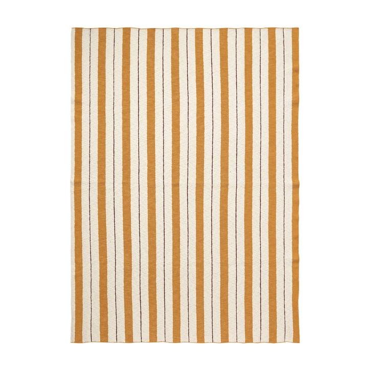 Pinstripe Blanket by ferm Living in Mustard