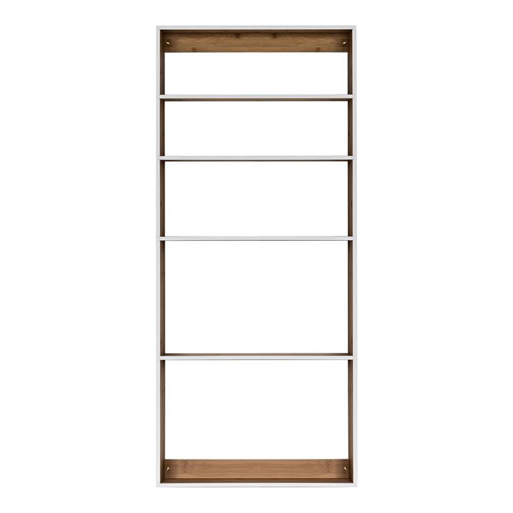 We Do Wood - Fivesquare Wall Shelf, bamboo / light grey