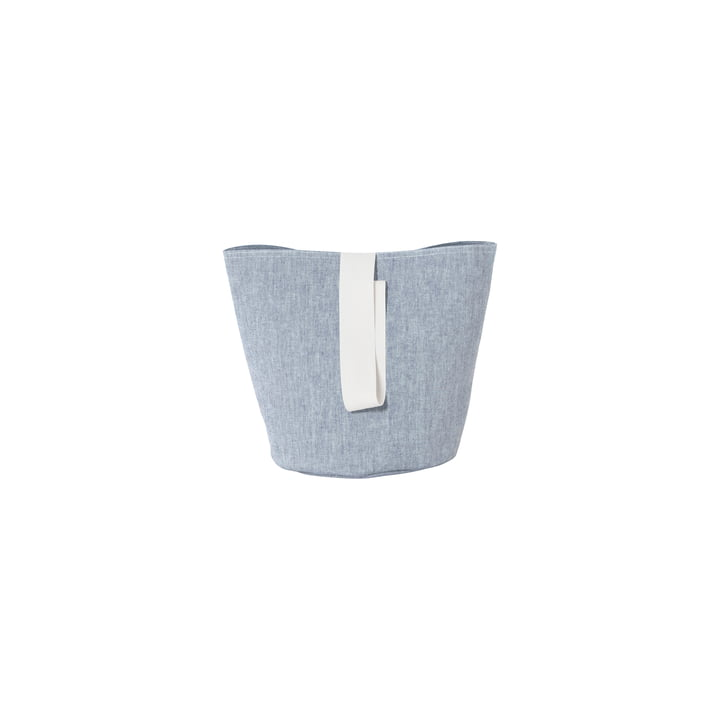 Chambray Basket Small by ferm Living in Blue