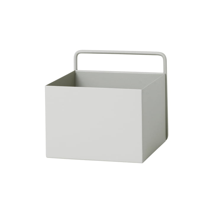 Wall Box square by ferm Living in light grey