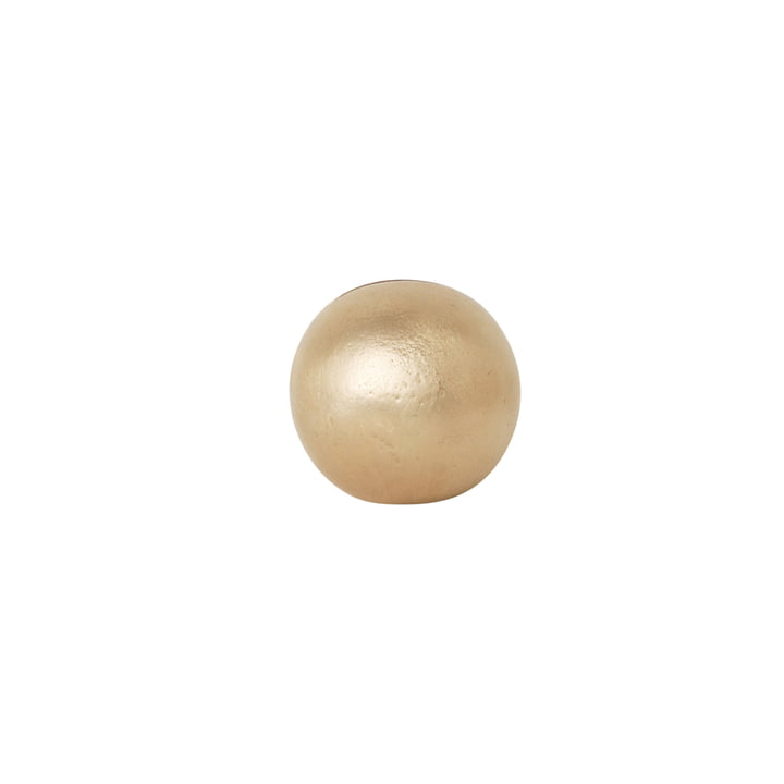 The Sphere Card Holder by ferm Living in Brass
