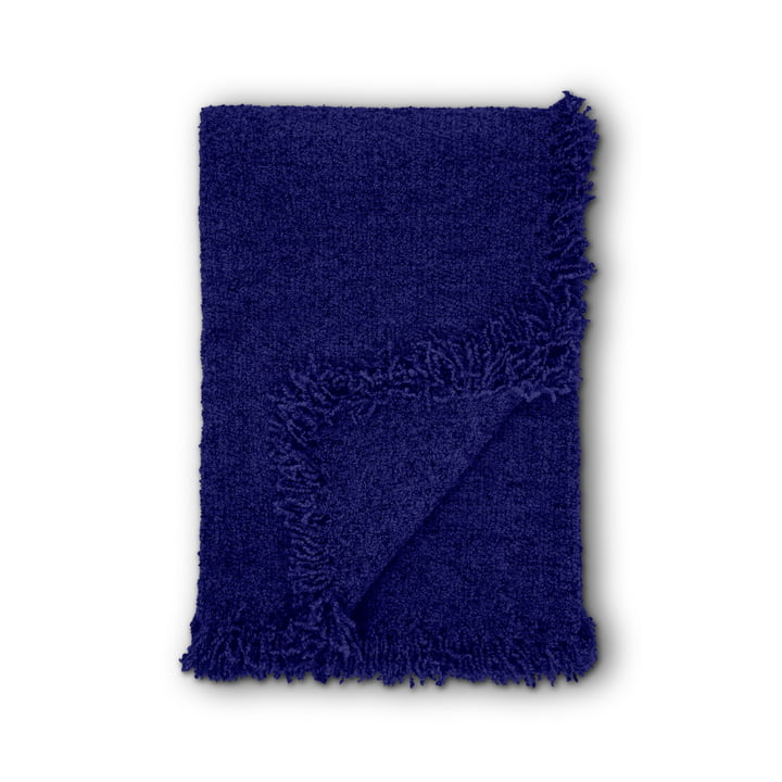 Boucle Throw 140 x 200 cm by Tom Dixon in Electric Blue