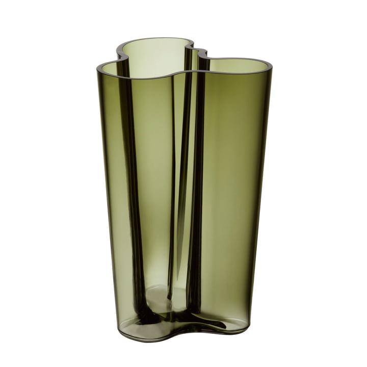 Aalto Vase Finlandia 251 mm by Iittala in Moss Green