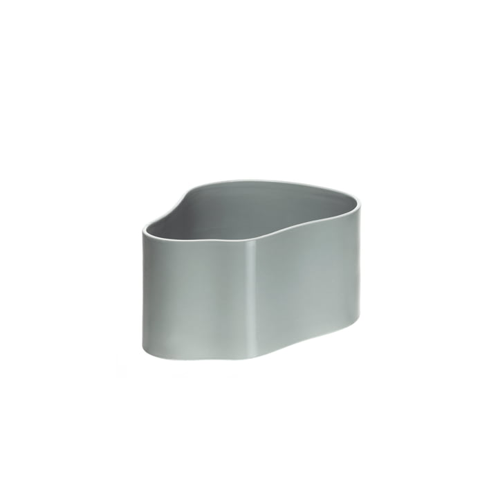 Small Riihitie Plant Pot (Form B) by Artek in Light Grey