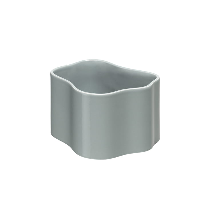 Riihitie Plant Pot (Form B) in Medium by Artek in Light Grey