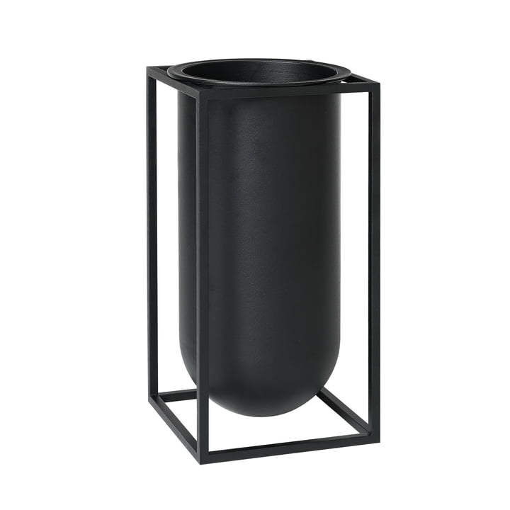 Kubus Vase Lolo from by Lassen in Black