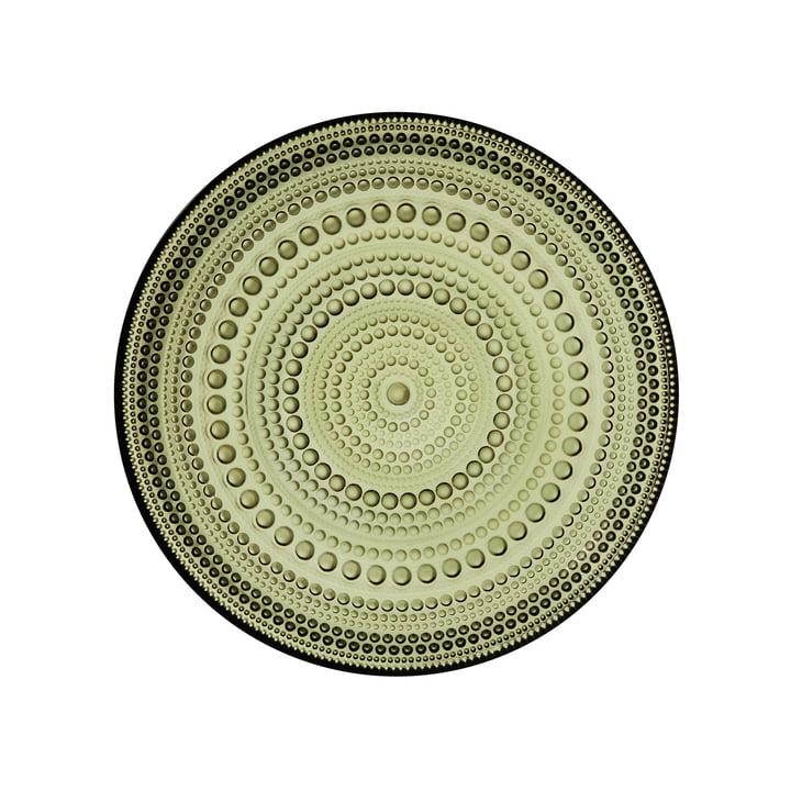 Kastehelmi Plate Ø 17 cm by Iittala in Moss Green