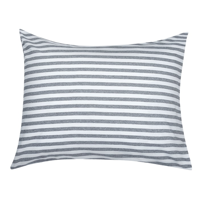 Marimekko - Tasaraita pillow cover 80 x 80 cm, grey / white