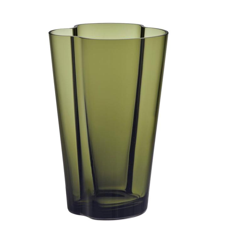 Aalto Vase Finlandia 220 mm by Iittala in Moss Green