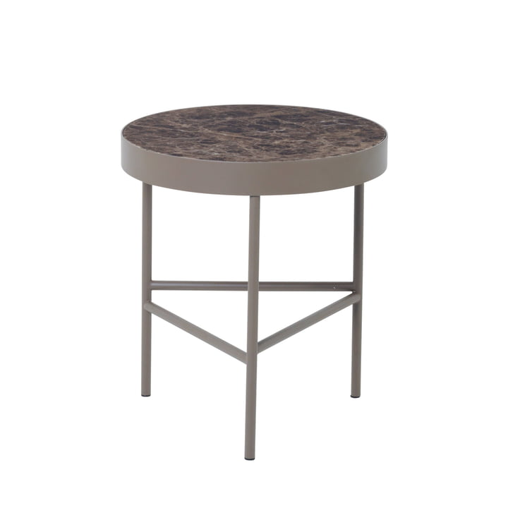 ferm Living - Marble Table large - medium, brown