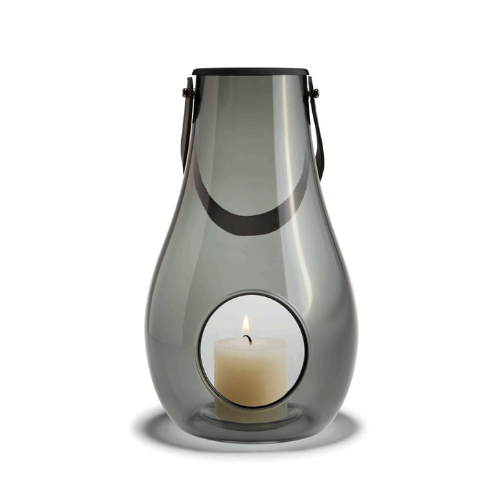 Design with light Lantern H 29 cm from Holmegaard in Smoke