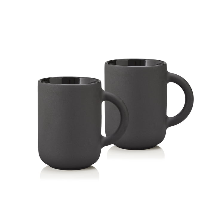 Stelton - Theo mug 0.35 l, black (set of 2)