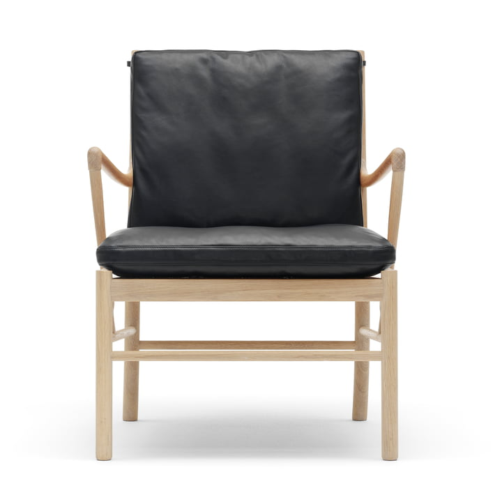 Der Carl Hansen - OW149 Colonial Chair, Oak soaped / Leather Black