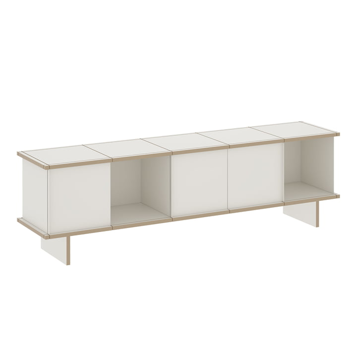 The Konstantin Slawinski - YU Sideboard Set 5 x 1, MDF white / white