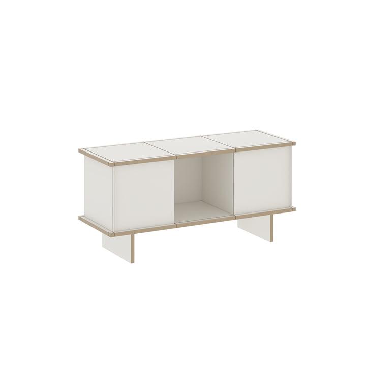 The Konstantin Slawinski - YU Sideboard Set 3 x 1, MDF white / white