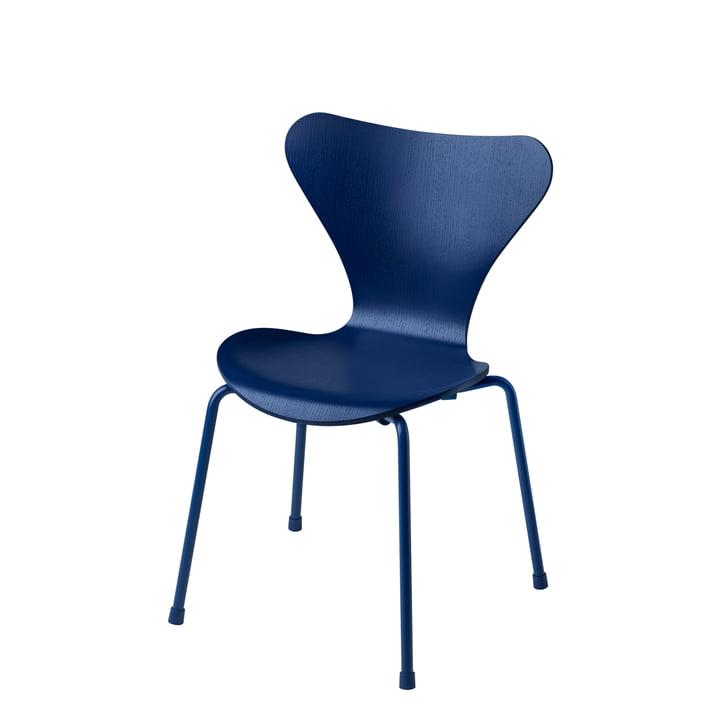 Fritz Hansen - Series 7 Children's Chair, Monochrome Blue