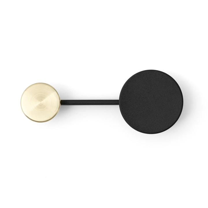 Menu - Afteroom Coat Hanger, Small, Black / Brass