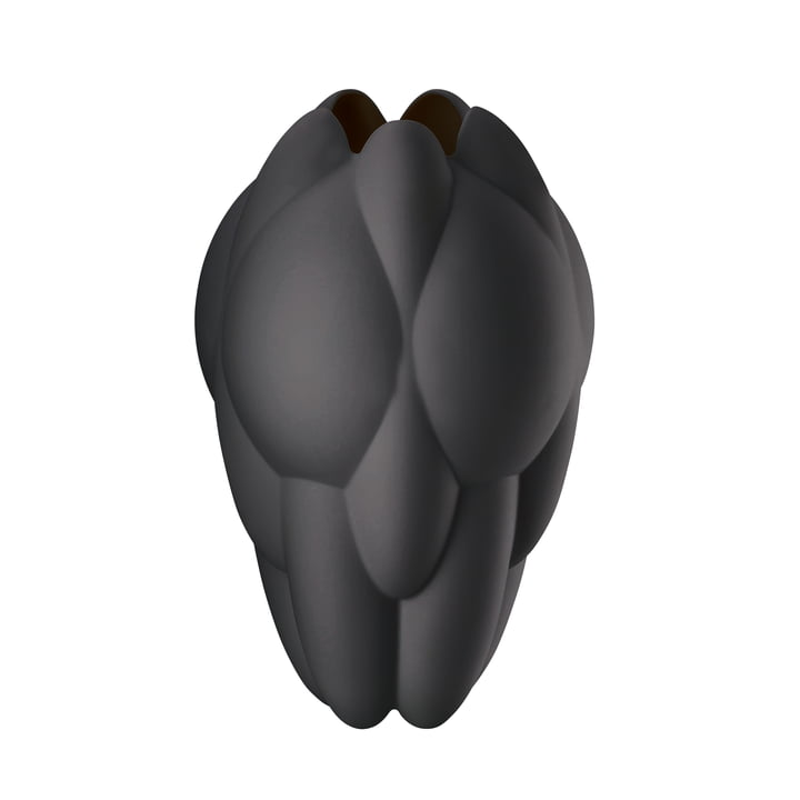 Geode Vase H 25 cm by Rosenthal in Black