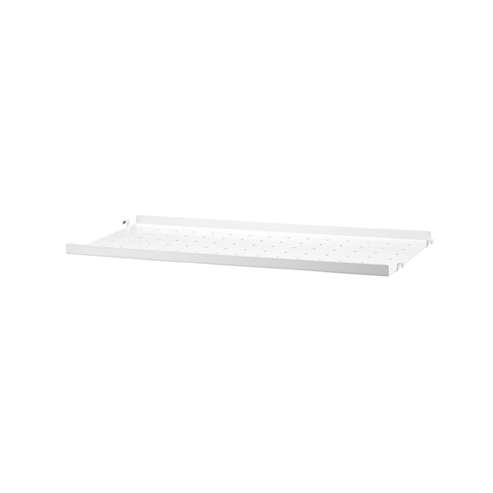 Metal Shelf Low Edge, 58 x 20 by String in White