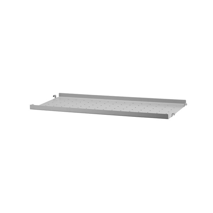 Metal Shelf Low Edge, 58 x 20 by String in Grey