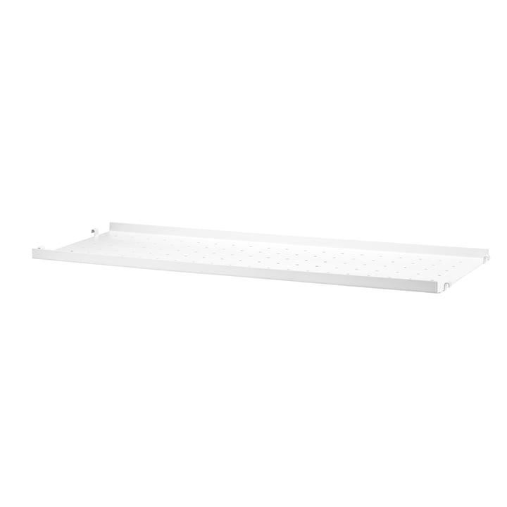 Metal Shelf Low Edge, 78 x 20 by String in White
