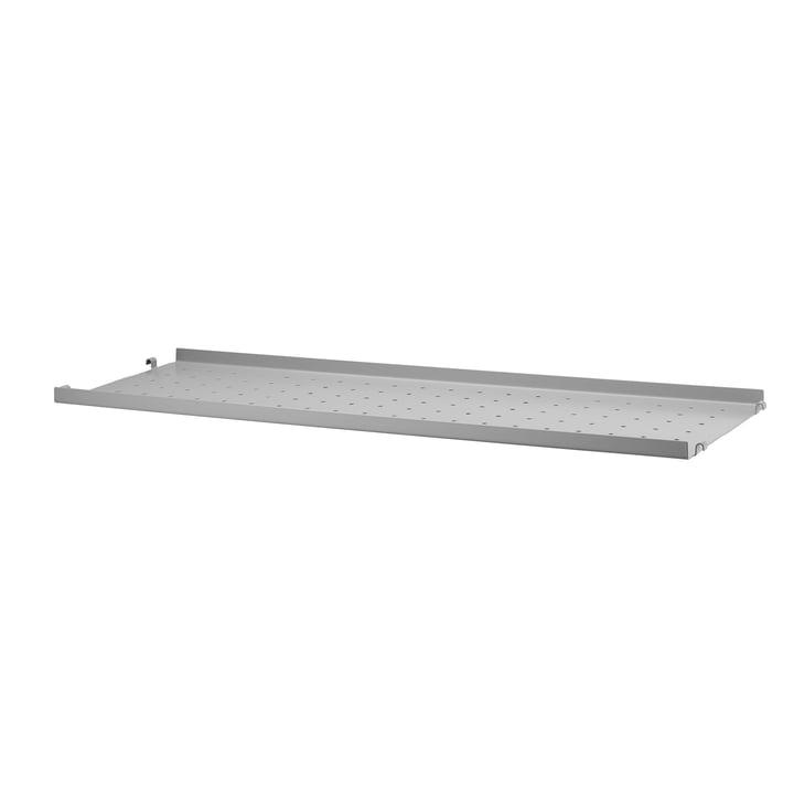 String - Metal Shelf Low Edge, 78 x 20 by String in Grey