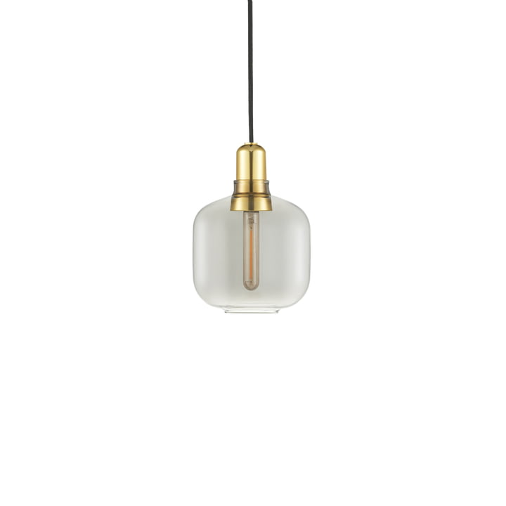 Normann Copenhagen - Amp pendant lamp small, smoke / brass