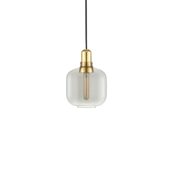 Normann Copenhagen - Amp Pendant light small, smoke / brass