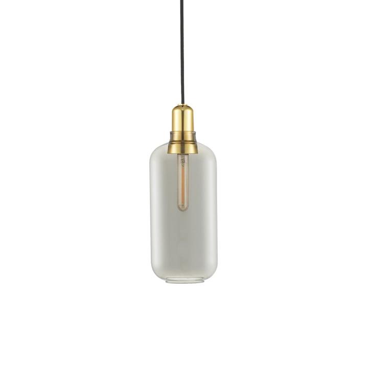 The Normann Copenhagen - Amp Pendant light large, smoke / brass