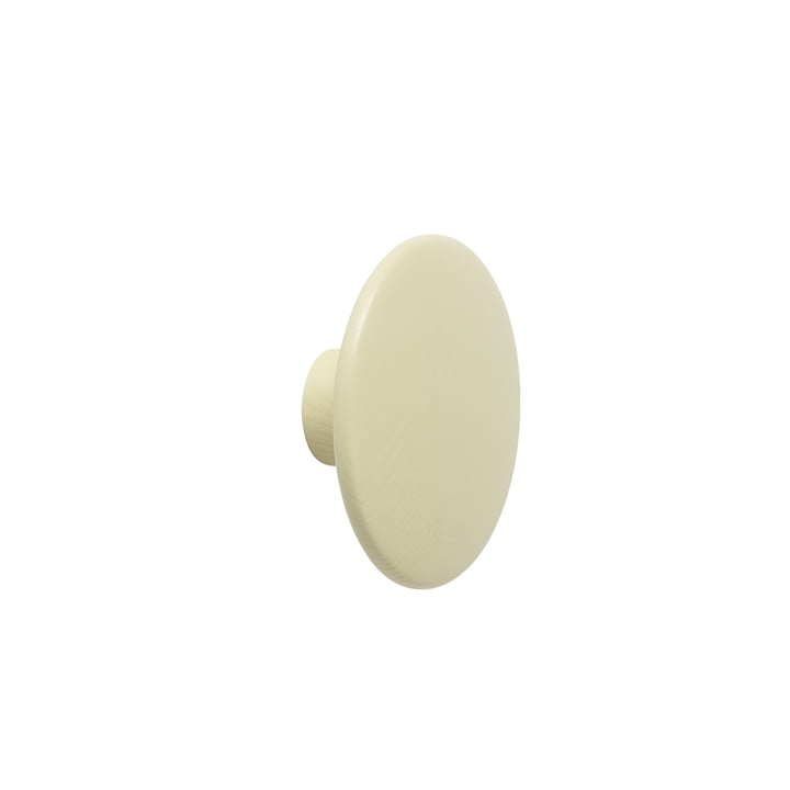 "Wall hook ""The Dots"" single small by Muuto in beige-green"
