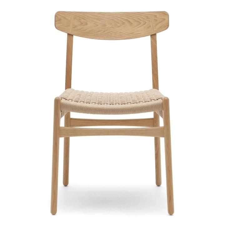 Carl Hansen - CH23 Chair, oiled oak / woven paper cord