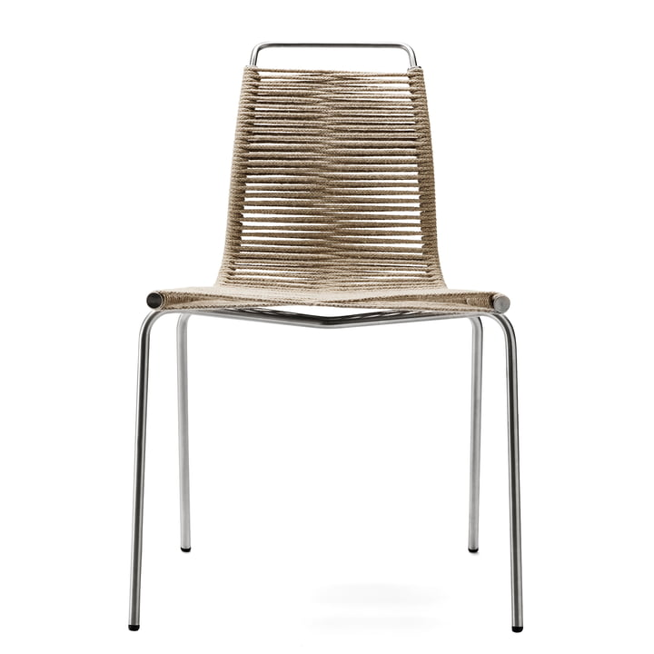 Carl Hansen - PK1 Indoor Chair, chrome-plated steel / natural halyard