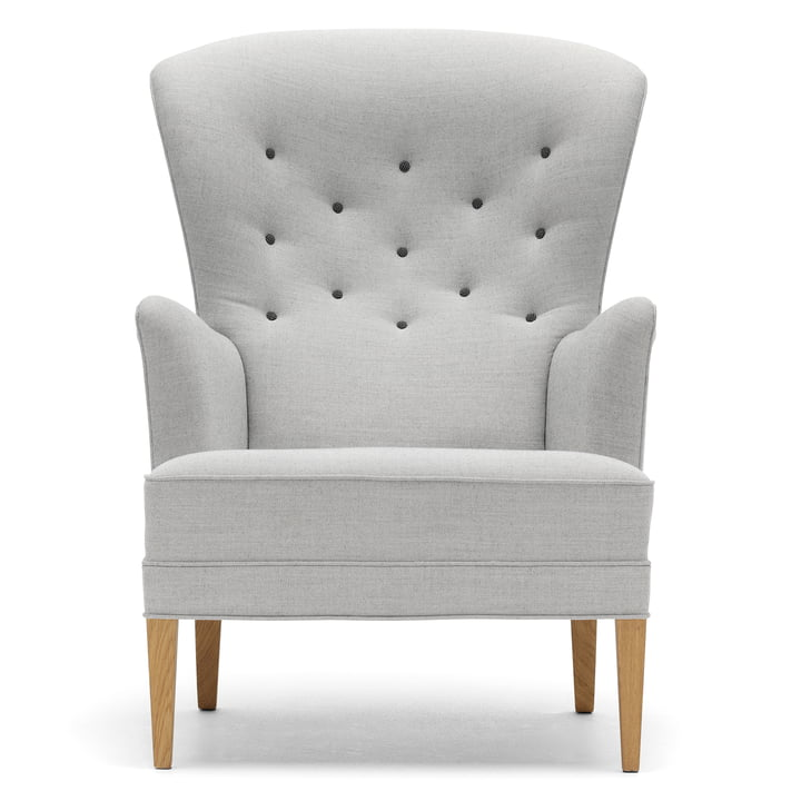 Carl Hansen - FH419 Heritage Chair, oiled oak / light grey (Canvas 124 / Hallingdal 126 buttons)