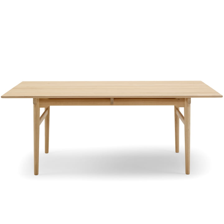 The Carl Hansen - CH327 Extendable Dining Table, 190 x 95 cm, Soaped Oak