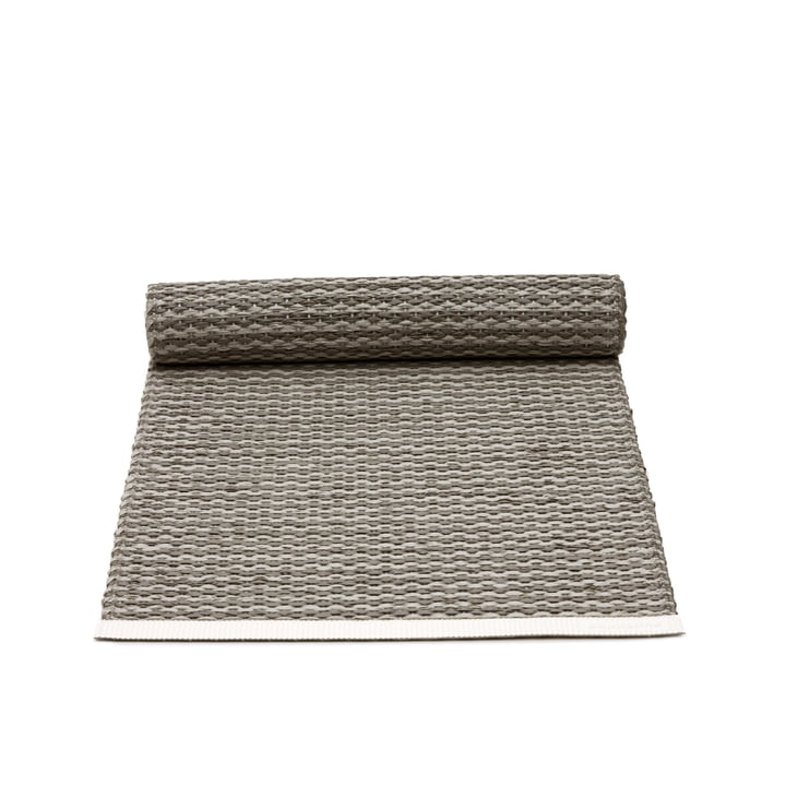 The Mono Rug by Pappelina in Charcoal / Warm Grey