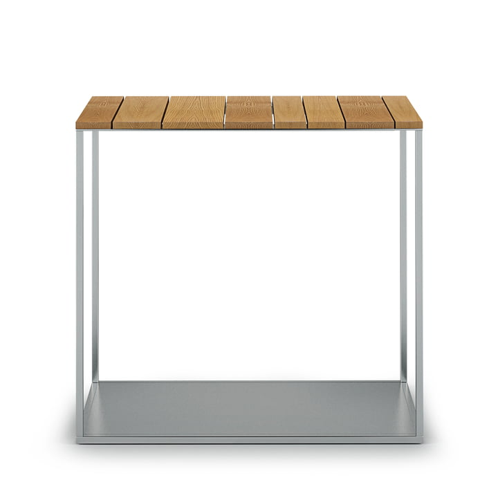 The Röshults - York side table H 47.5 cm, 50 x 25 cm, teak
