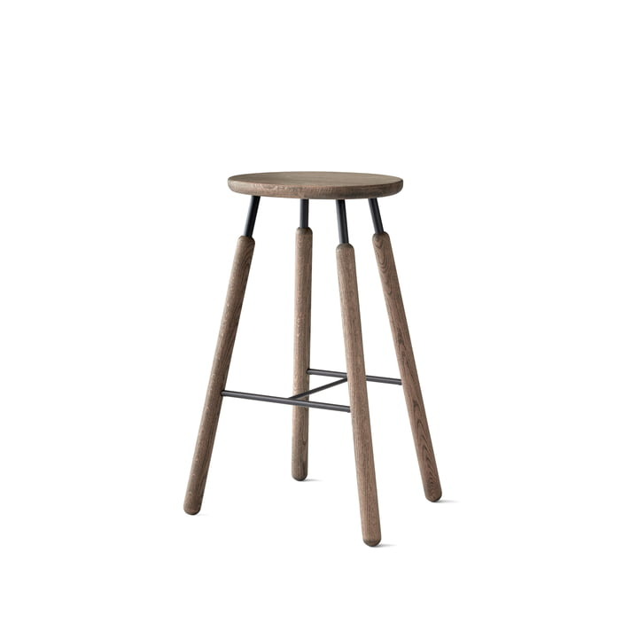 Norm NA8 Stool H 75 cm by &Tradition in Smoked and Oiled Oak