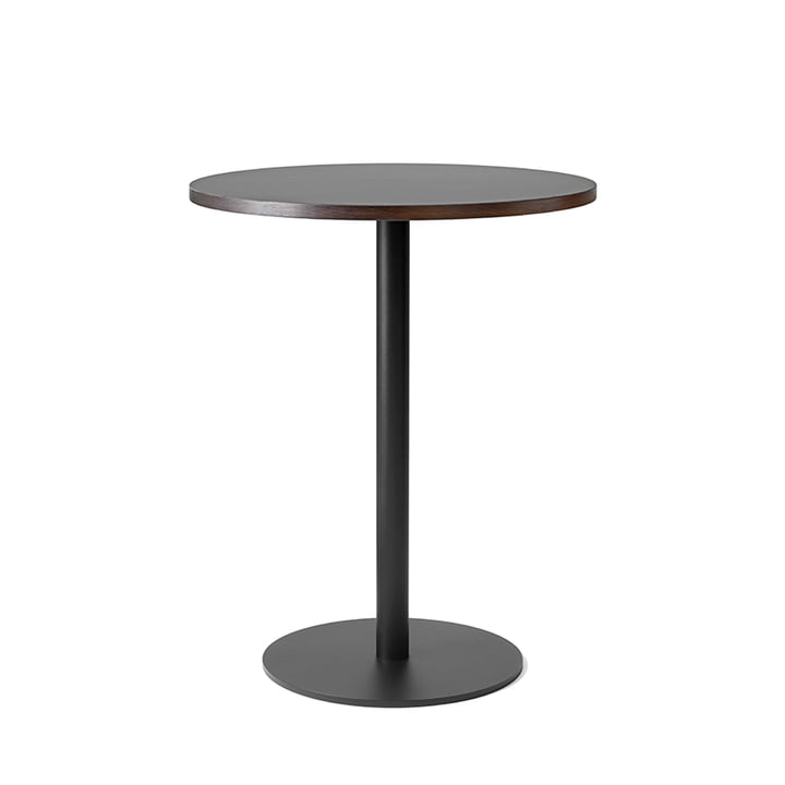 Nærvær Bistro Table, H 60 Ø 74 cm by &Tradition in Black / Smoked and Oiled Oak