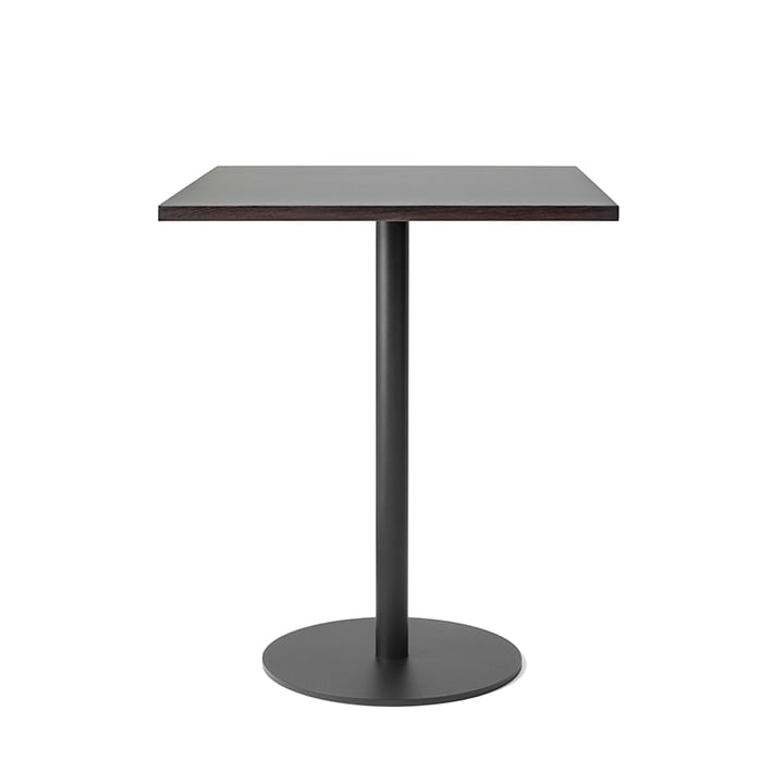 Nærvær Bistro Table, H 60 Ø 70 cm by &Tradition in Black / Smoked and Oiled Oak